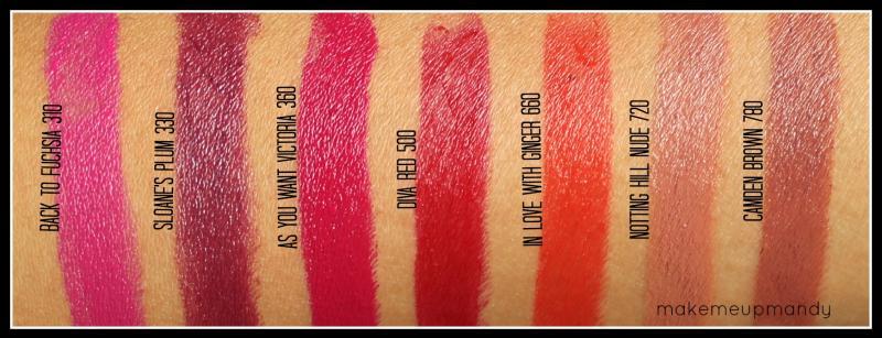 Rimmel Moisture Renew Lipsticks - Swatches & Review ...