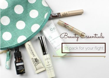 beauty essentials pack for flight