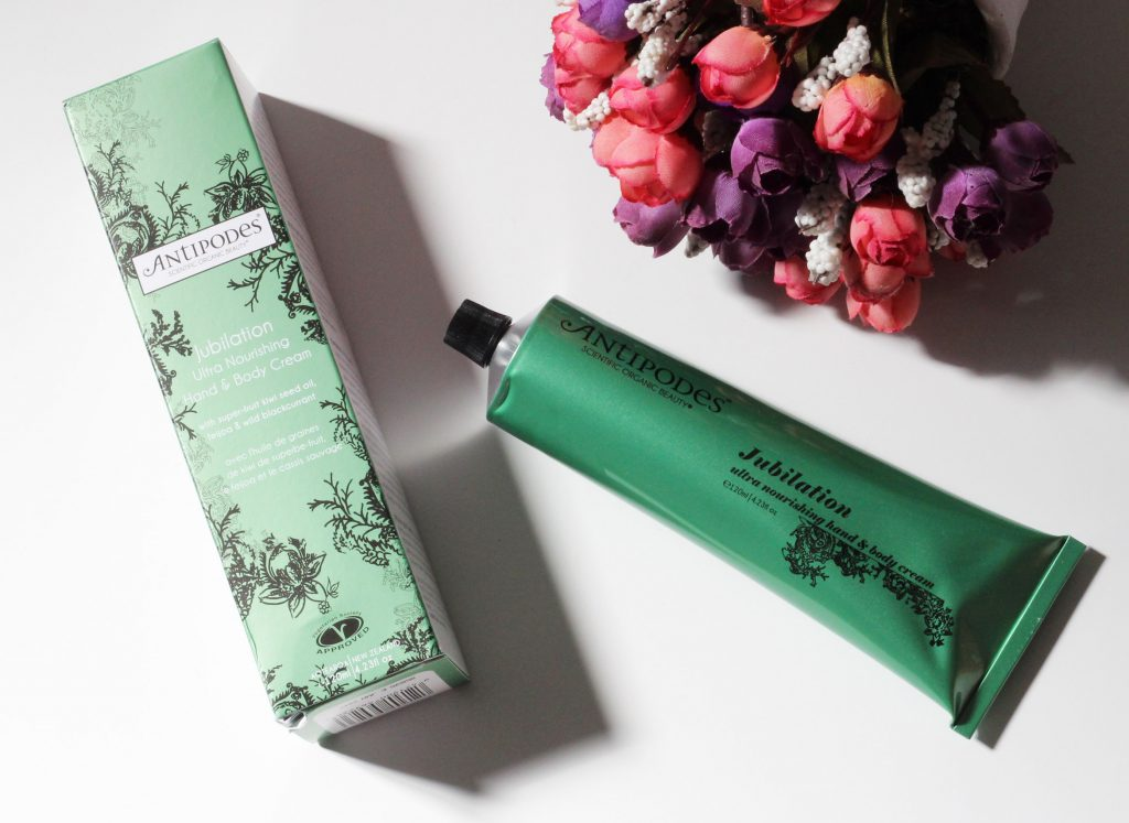 antipodes jubilation ultra nourising hand body cream review