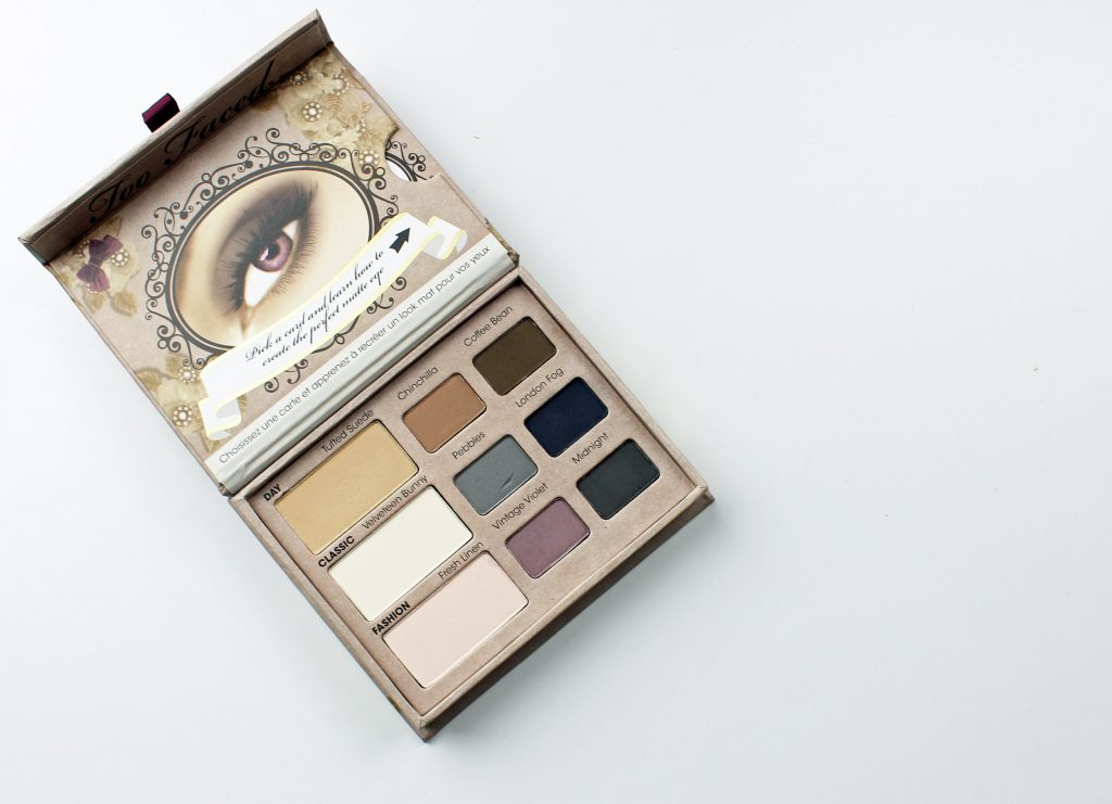 too faced matte eye shadow palette review