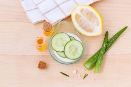 lemon cucumber skin care