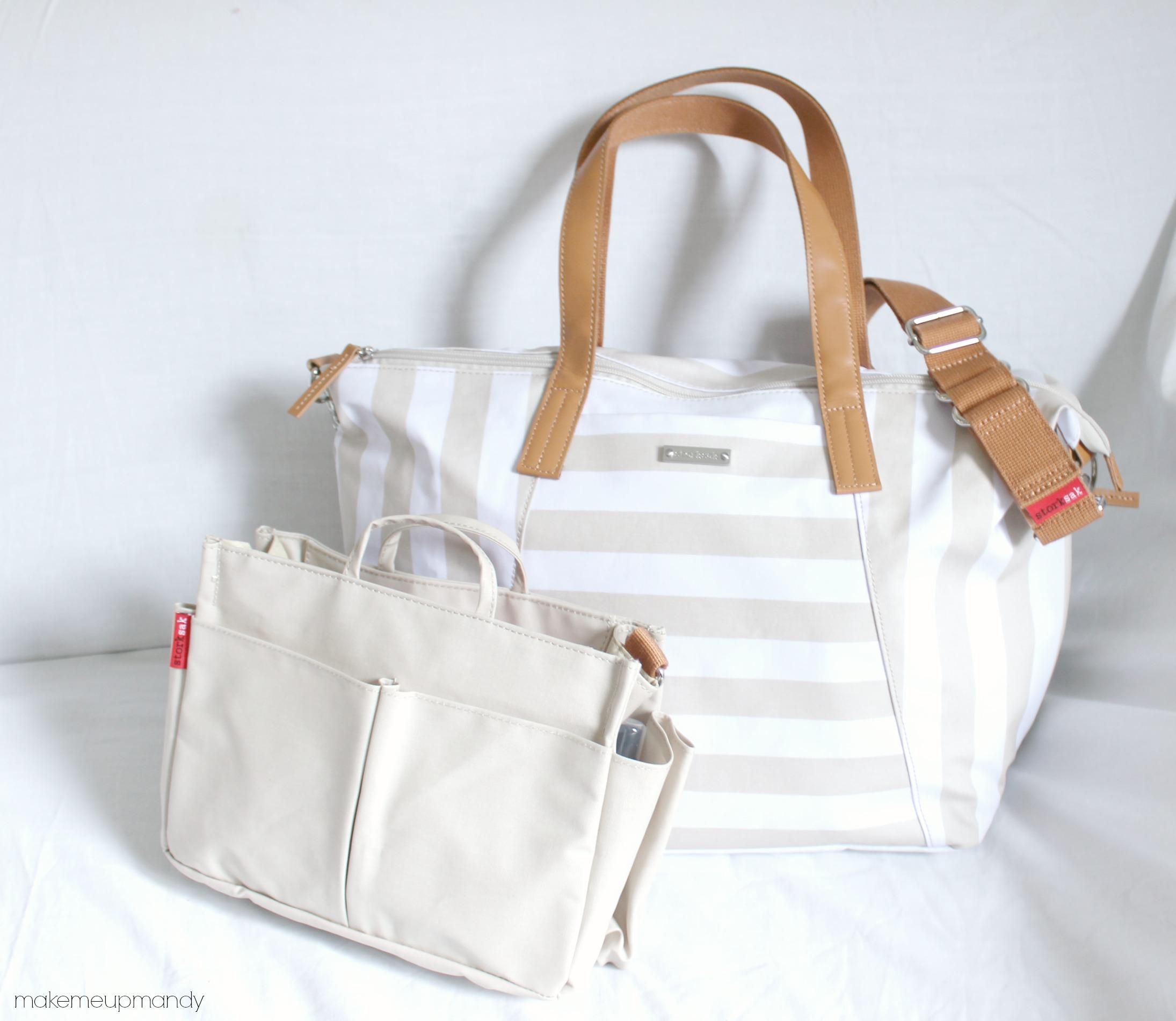 storksak noa fawn review luxury diaper bag