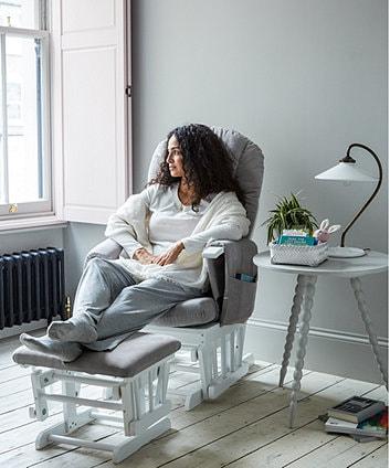 rest nursing glider chair mom