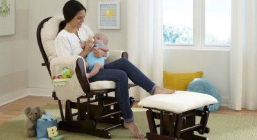 mom in nursing chair baby